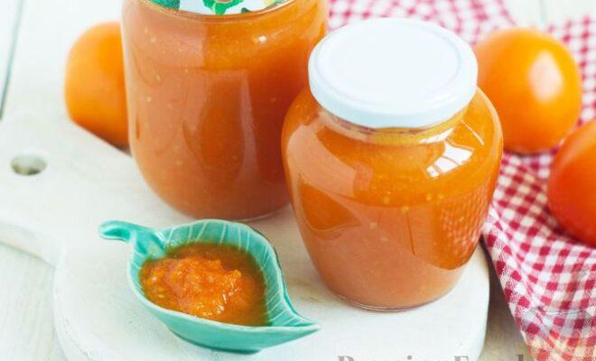 Соус из жёлтых помидоров (на зиму)