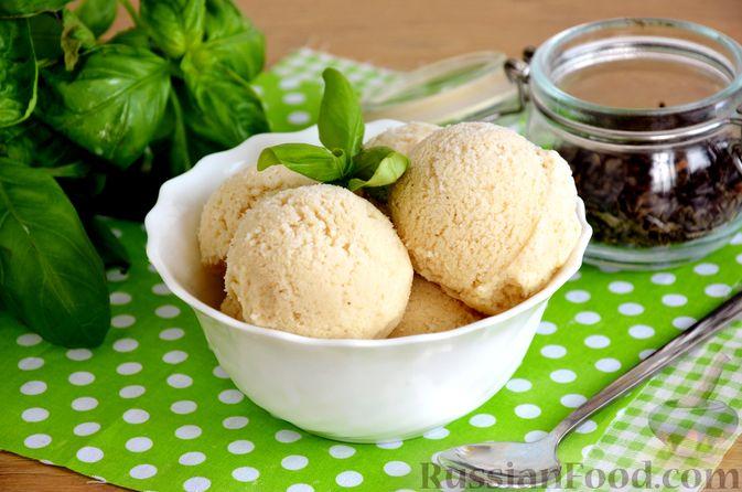 Молочное мороженое с зелёным чаем (без сливок)