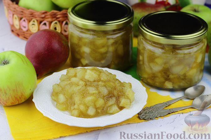 Яблочно-грушевое варенье с корицей (в сковороде)
