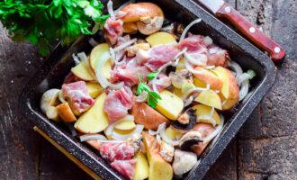 Свинина в духовке с картошкой и грибами - очень простой рецепт с пошаговыми фото