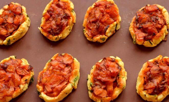 Лодочки из картофельного пюре с овощами