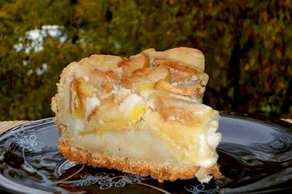 Пирог «Яблоки в снегу»