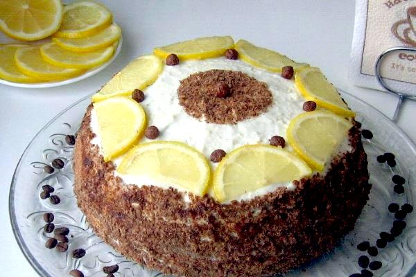 Творожный торт «Кофе с лимоном»
