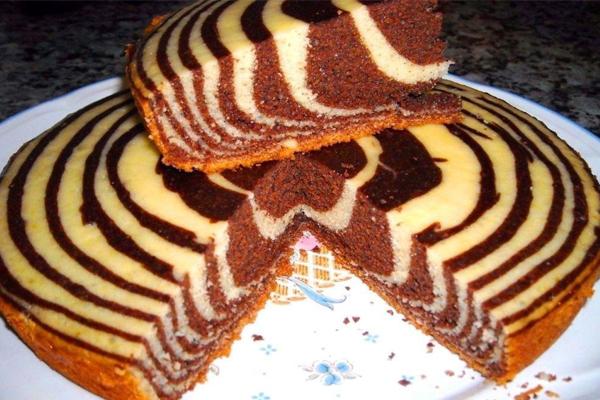 Вкусный и красивый пирог «Зебра»